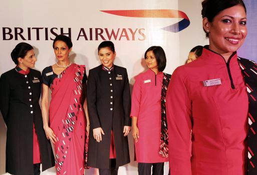 Members of British Airways cabin crew (Image: www.airlinersindia.s4.bizhat.com)