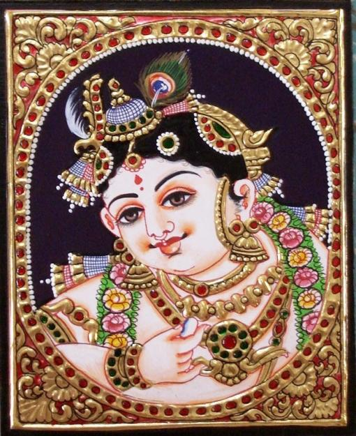 Tanjore Painting Depicting Hindu Mythology (Image: http://www.sandhyamanne.com)