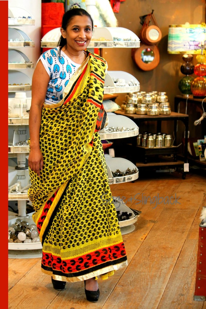 The Hipster T-Shirt Saree Look (Image: http://sageandslingback.blogspot.in)