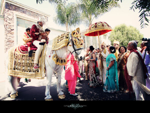 Indian Baraat Ceremony (Image: http://www.larockphotography.com)