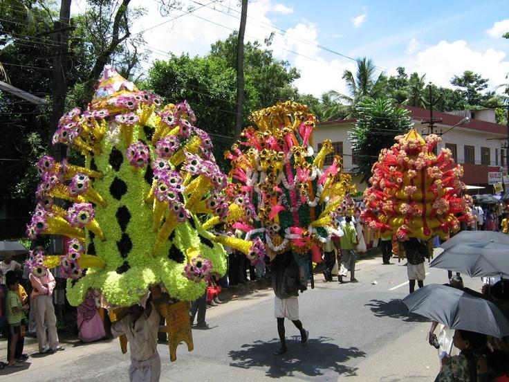 The Athamchamyam Procession at Thripunithura (Image: https://www.pinterest.com)