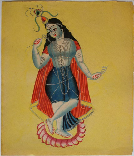 Kalighat Inspired by Indian Mythology (Image: http://www.oldindianarts.in)