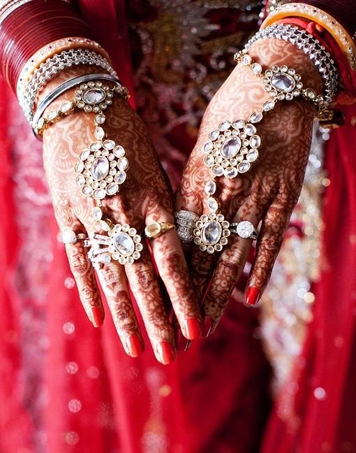 Bridal Haath Phool or Hand Bracelet (Image: http://www.maharaniweddings.com)