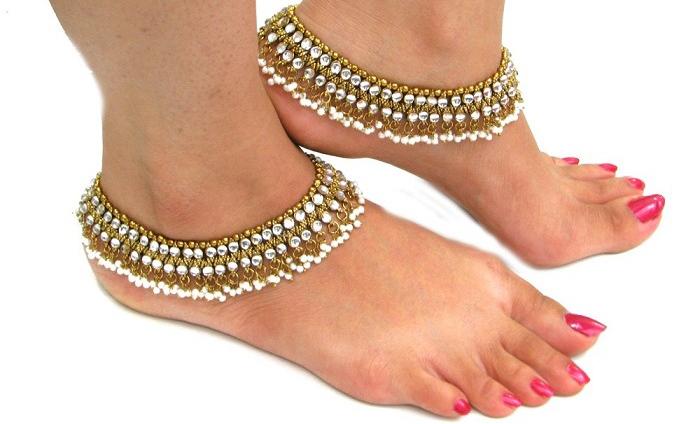 Beautiful wedding anklets. (Image: Weddingsonline.in)