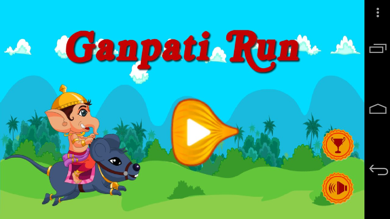 A screenshot of an Android based Ganpati game 'Ganpati Run'. (Image: Fs01.androidpit.info)