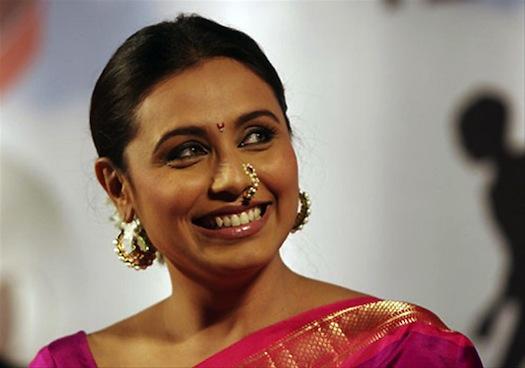 Bollywood actress Rani Mukerji wears a traditional nose ring called 'pullakku'. (Image: Marrymeweddings.in)