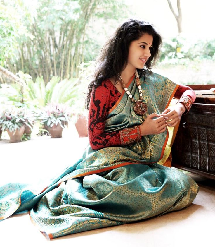 Indian Women in Brocade Saree